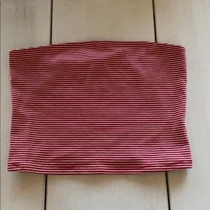 👛bundle 3 for 15.00 Red & white striped tube top